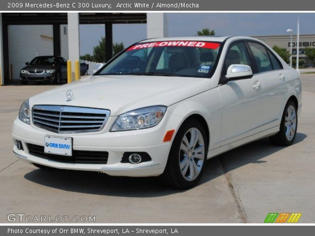 Arctic white 2009 mercedes benz c 300 luxury almond for 2009 mercedes benz c 300