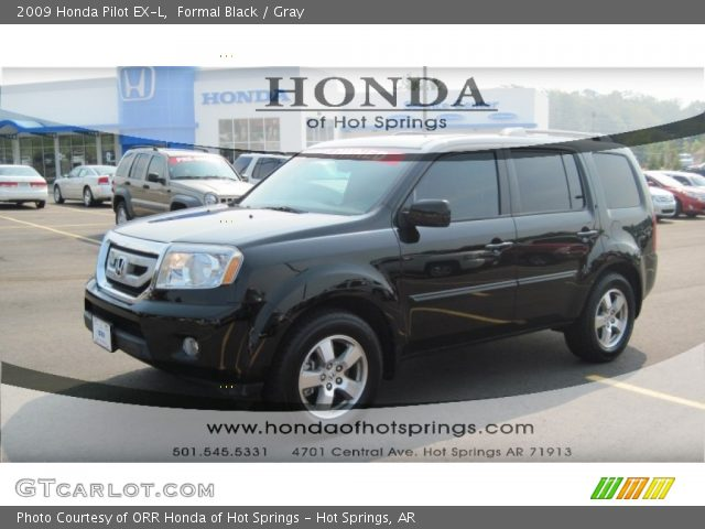 Formal Black 2009 Honda Pilot Ex L Gray Interior Vehicle Archive 53671929