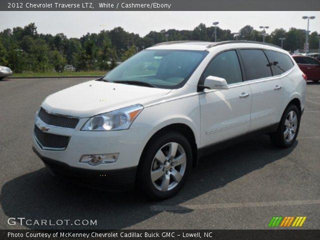 White - 2012 Chevrolet Traverse LTZ - Cashmere/Ebony Interior ...