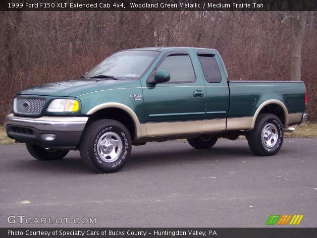 woodland green metallic 1999 ford f150 xlt extended cab 4x4 medium prairie tan interior. Black Bedroom Furniture Sets. Home Design Ideas