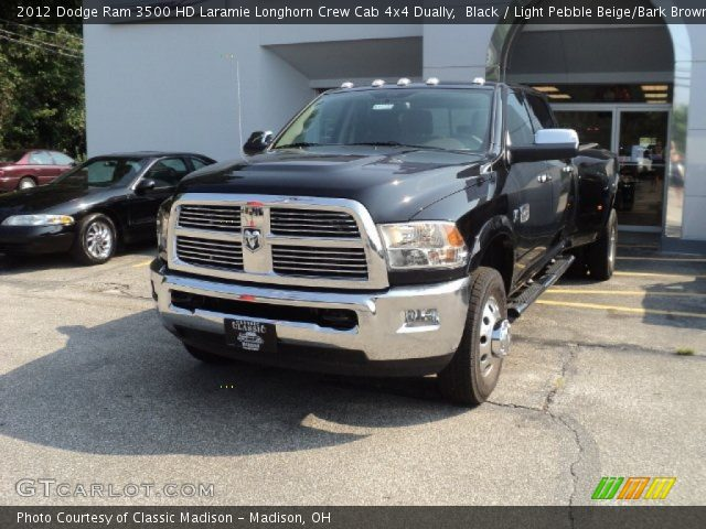 2012 Dodge Ram 3500 HD Laramie Longhorn Crew Cab 4x4 Dually in Black
