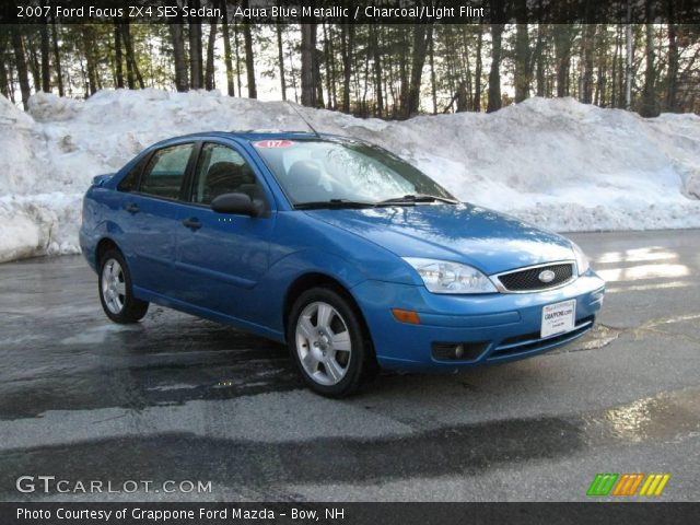 aqua blue metallic 2007 ford focus zx4 ses sedan. Black Bedroom Furniture Sets. Home Design Ideas