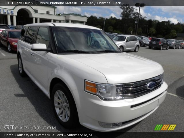 white platinum metallic tri coat 2011 ford flex sel. Black Bedroom Furniture Sets. Home Design Ideas