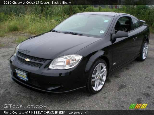 black 2010 chevrolet cobalt ss coupe ebony interior. Black Bedroom Furniture Sets. Home Design Ideas