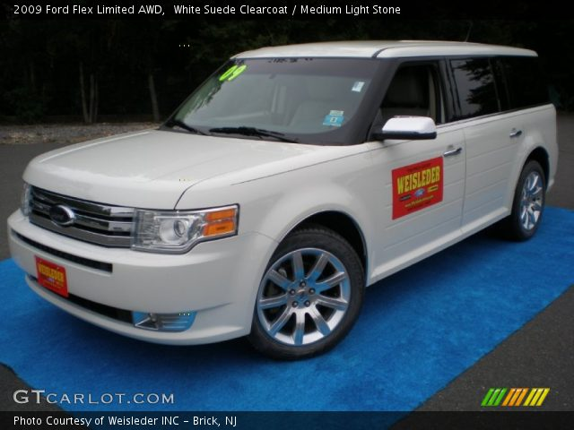 white suede clearcoat 2009 ford flex limited awd. Black Bedroom Furniture Sets. Home Design Ideas