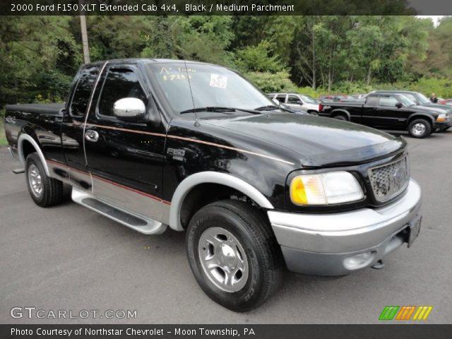 black 2000 ford f150 xlt extended cab 4x4 medium parchment interior vehicle. Black Bedroom Furniture Sets. Home Design Ideas