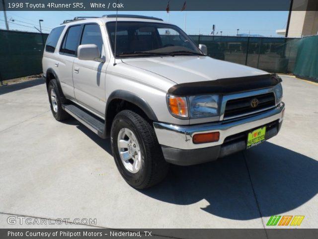 White 1998 Toyota 4runner Sr5 Oak Interior Vehicle Archive 53857572