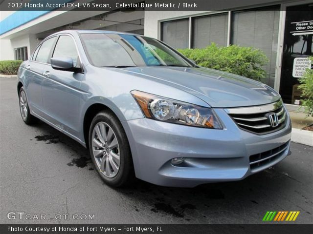 celestial blue metallic 2012 honda accord ex l v6 sedan black interior. Black Bedroom Furniture Sets. Home Design Ideas