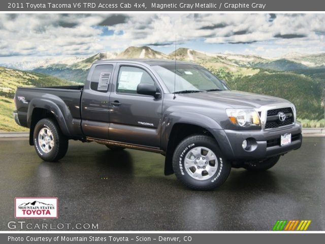 magnetic gray metallic 2011 toyota tacoma v6 trd access cab 4x4 graphite gray interior. Black Bedroom Furniture Sets. Home Design Ideas