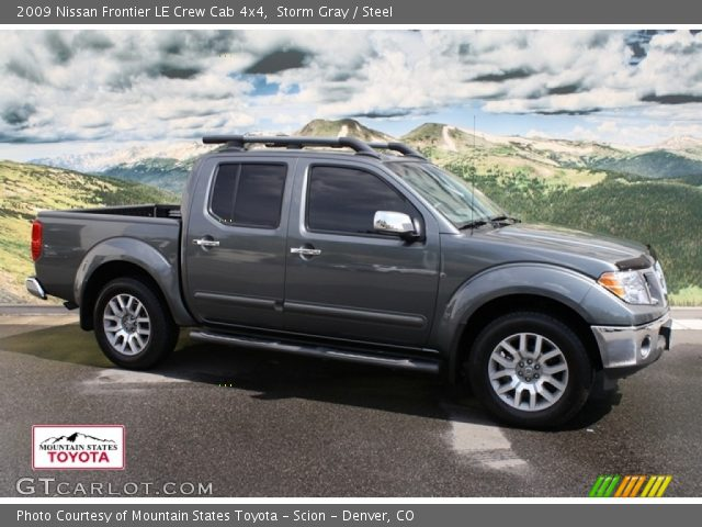 storm gray 2009 nissan frontier le crew cab 4x4 steel interior vehicle. Black Bedroom Furniture Sets. Home Design Ideas