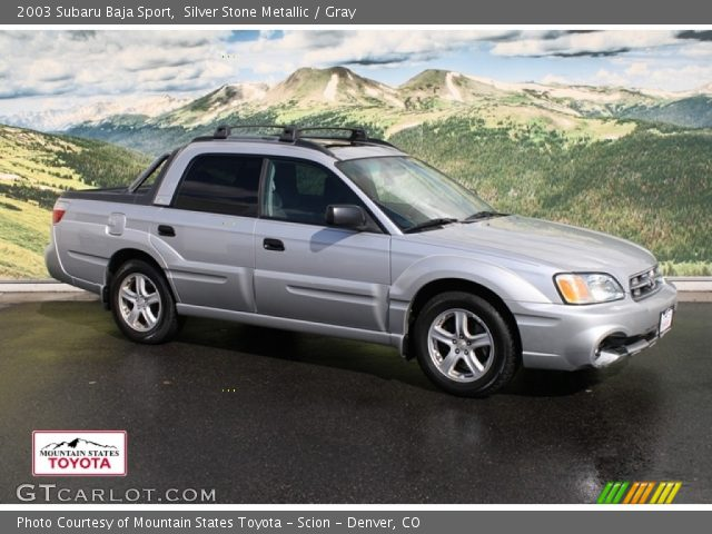 silver stone metallic 2003 subaru baja sport gray. Black Bedroom Furniture Sets. Home Design Ideas
