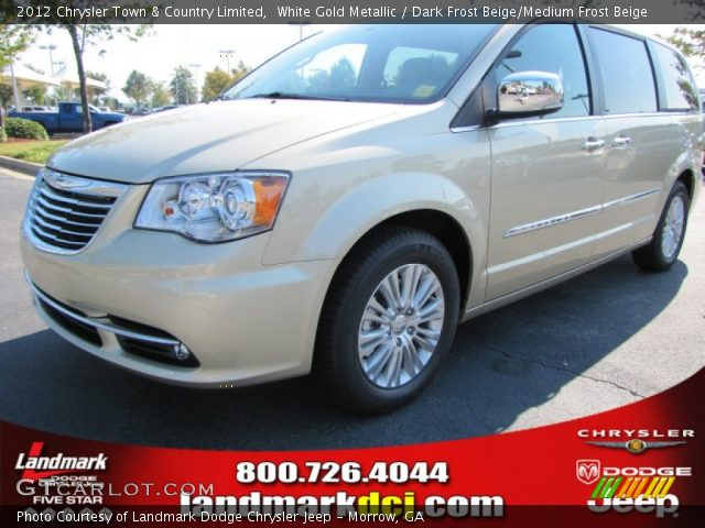 white gold metallic 2012 chrysler town country limited dark frost beige medium frost beige. Black Bedroom Furniture Sets. Home Design Ideas
