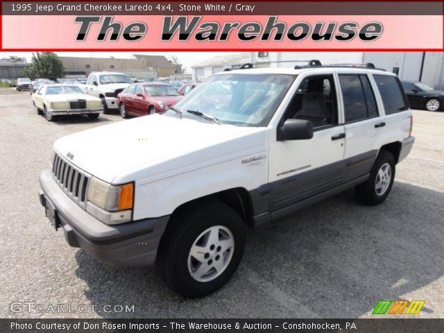 stone white 1995 jeep grand cherokee laredo 4x4 gray interior vehicle. Black Bedroom Furniture Sets. Home Design Ideas