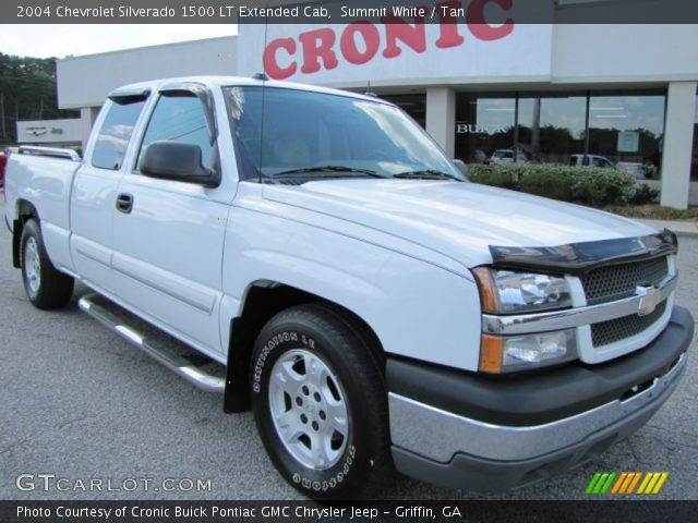 summit white 2004 chevrolet silverado 1500 lt extended cab tan interior. Black Bedroom Furniture Sets. Home Design Ideas