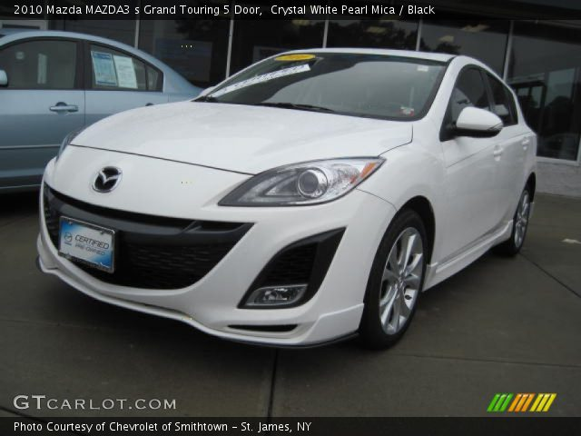 crystal white pearl mica 2010 mazda mazda3 s grand. Black Bedroom Furniture Sets. Home Design Ideas