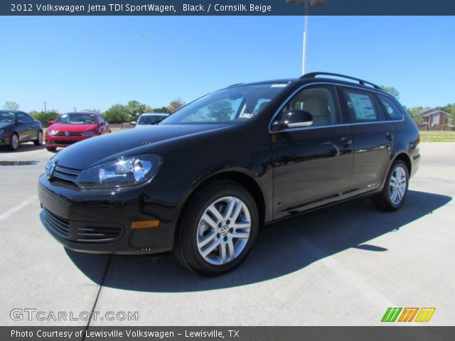 black 2012 volkswagen jetta tdi sportwagen cornsilk. Black Bedroom Furniture Sets. Home Design Ideas