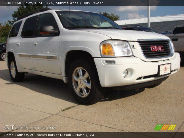 summit white 2003 gmc envoy xl slt 4x4 dark pewter. Black Bedroom Furniture Sets. Home Design Ideas
