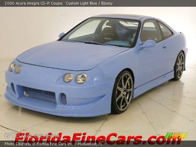 custom light blue 2000 acura integra gs r coupe ebony interior