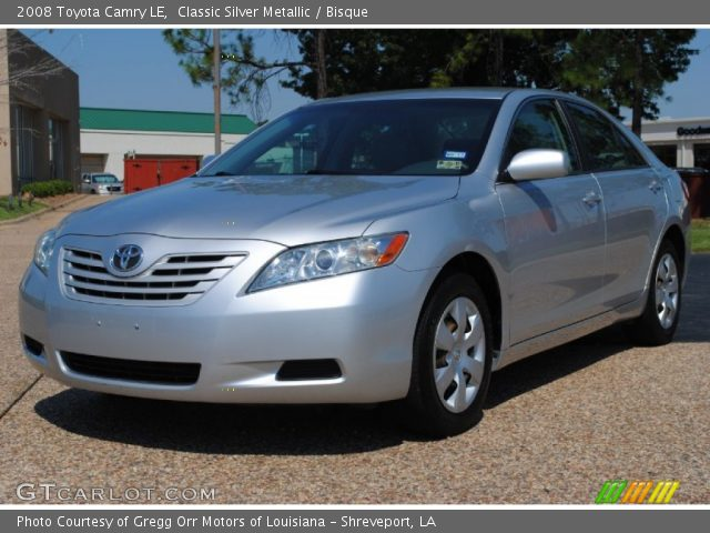 classic silver metallic 2008 toyota camry le bisque interior vehicle. Black Bedroom Furniture Sets. Home Design Ideas