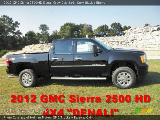 2012 GMC Sierra 2500HD Denali Crew Cab 4x4 in Onyx Black