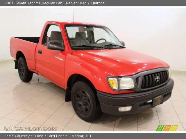 radiant red 2001 toyota tacoma regular cab charcoal interior vehicle. Black Bedroom Furniture Sets. Home Design Ideas