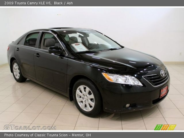 black 2009 toyota camry xle v6 ash interior vehicle archive 53982199. Black Bedroom Furniture Sets. Home Design Ideas
