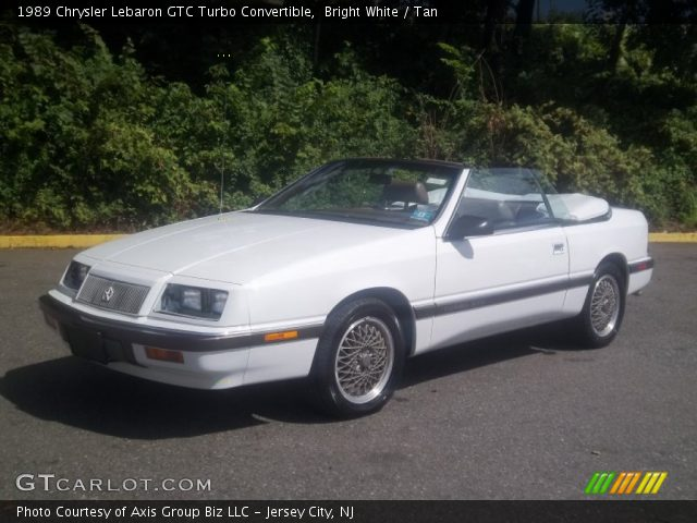 1989 Chrysler Lebaron GTC Turbo Convertible in Bright White