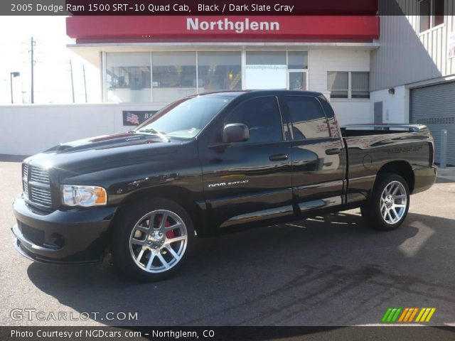 black 2005 dodge ram 1500 srt 10 quad cab dark slate gray interior vehicle. Black Bedroom Furniture Sets. Home Design Ideas