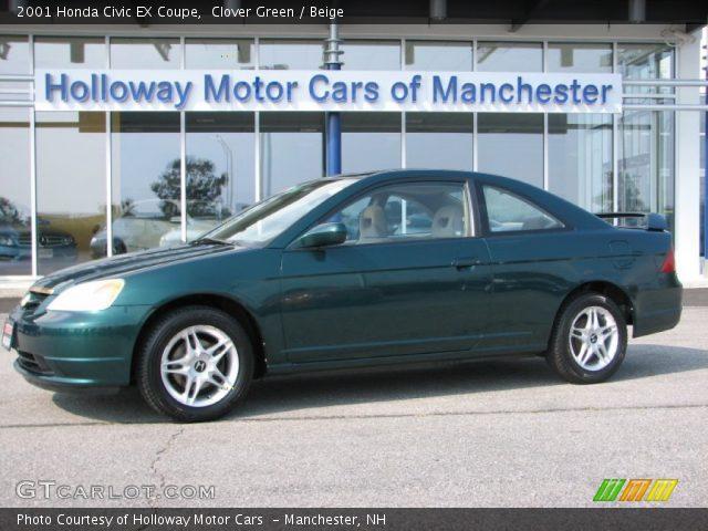 clover green 2001 honda civic ex coupe beige interior vehicle archive 53980792. Black Bedroom Furniture Sets. Home Design Ideas