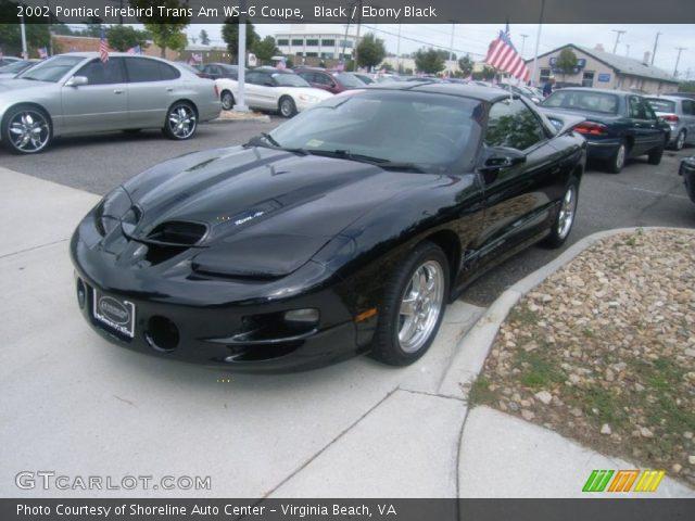 Black 2002 Pontiac Firebird Trans Am Ws 6 Coupe Ebony