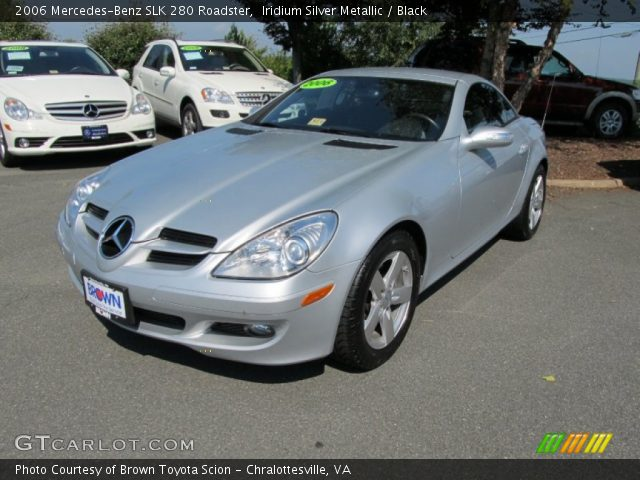 iridium silver metallic 2006 mercedes benz slk 280 roadster black interior. Black Bedroom Furniture Sets. Home Design Ideas