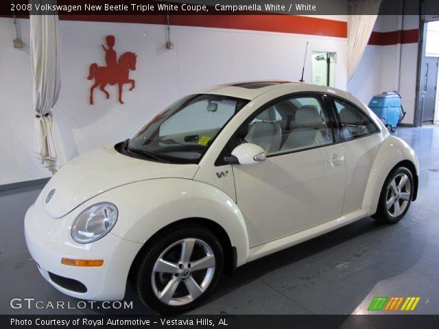 Campanella White 2008 Volkswagen New Beetle Triple White Coupe White Interior
