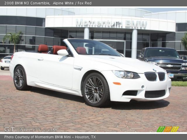 Alpine White 2008 Bmw M3 Convertible Fox Red Interior Vehicle Archive 53981564