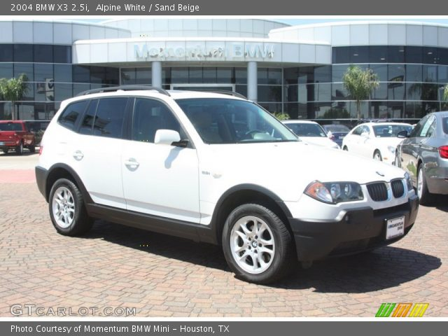 alpine white 2004 bmw x3 sand beige interior. Black Bedroom Furniture Sets. Home Design Ideas