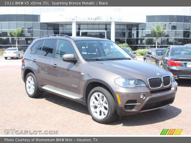 sparkling bronze metallic 2011 bmw x5 xdrive 35i black interior vehicle. Black Bedroom Furniture Sets. Home Design Ideas