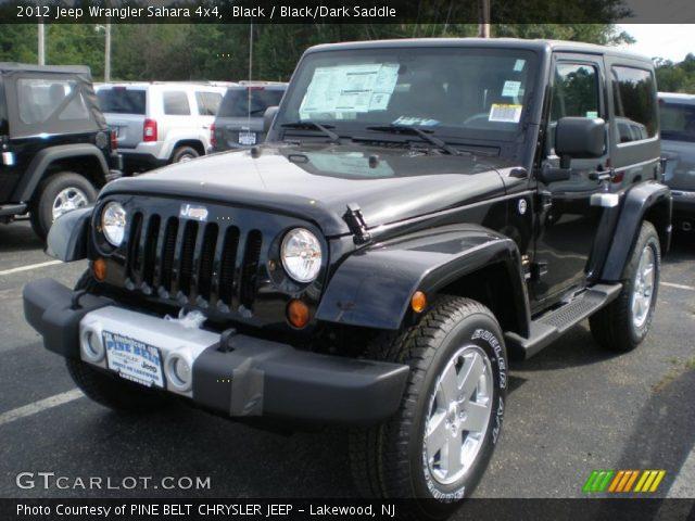 Black 2012 Jeep Wrangler Sahara 4x4 Black Dark Saddle Interior Vehicle