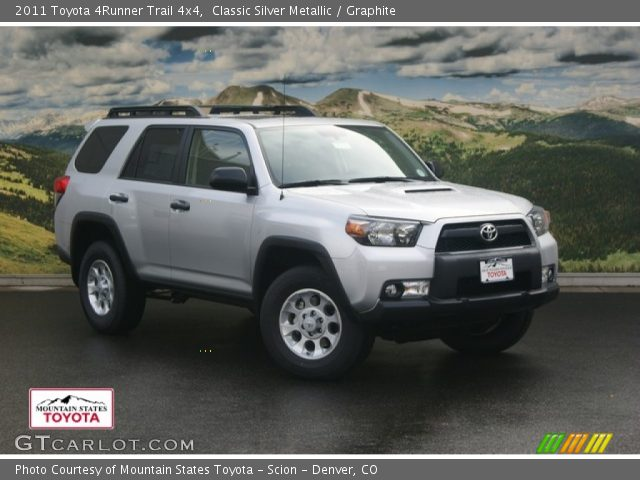 classic silver metallic 2011 toyota 4runner trail 4x4. Black Bedroom Furniture Sets. Home Design Ideas