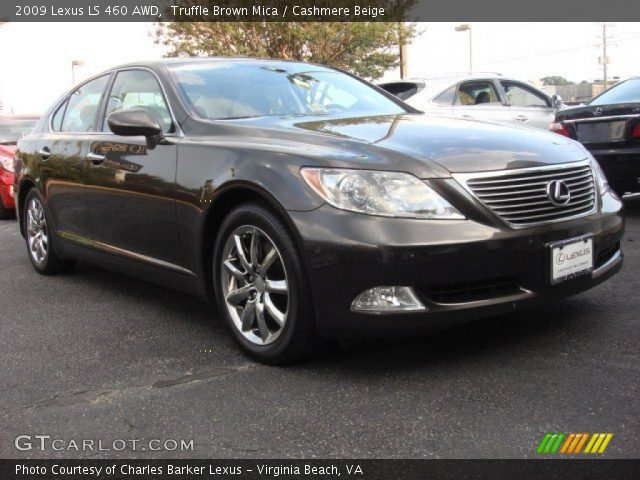 truffle brown mica 2009 lexus ls 460 awd cashmere. Black Bedroom Furniture Sets. Home Design Ideas