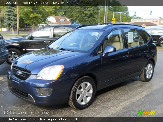 velvet blue 2007 kia rondo lx v6 beige interior. Black Bedroom Furniture Sets. Home Design Ideas