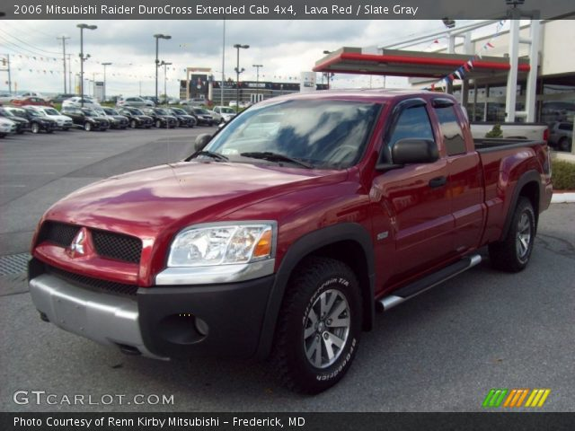 lava red 2006 mitsubishi raider durocross extended cab. Black Bedroom Furniture Sets. Home Design Ideas
