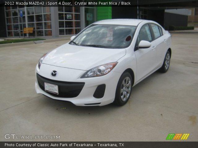 2012 Mazda MAZDA3 i Sport 4 Door in Crystal White Pearl Mica