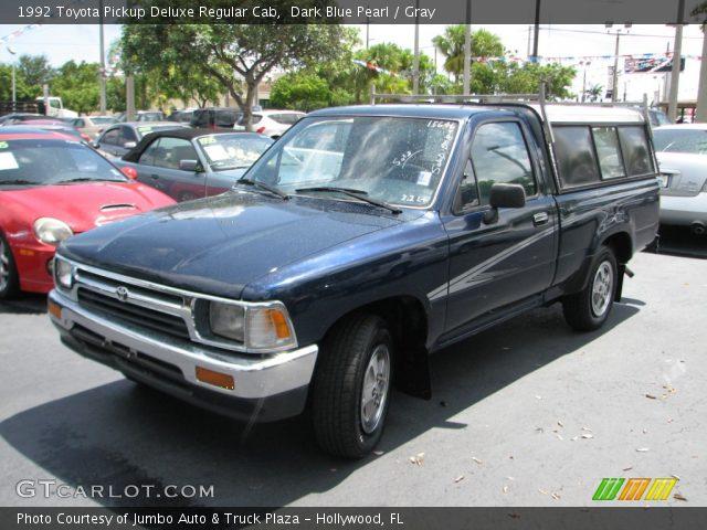 1992 Toyota Pickup Deluxe Regular Cab in Dark Blue Pearl