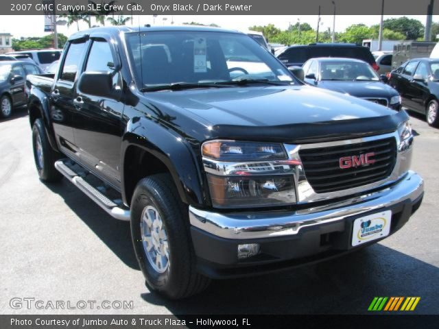 onyx black 2007 gmc canyon sle crew cab dark pewter. Black Bedroom Furniture Sets. Home Design Ideas