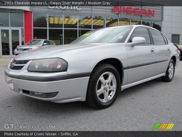 galaxy silver metallic 2003 chevrolet impala ls medium gray interior. Black Bedroom Furniture Sets. Home Design Ideas