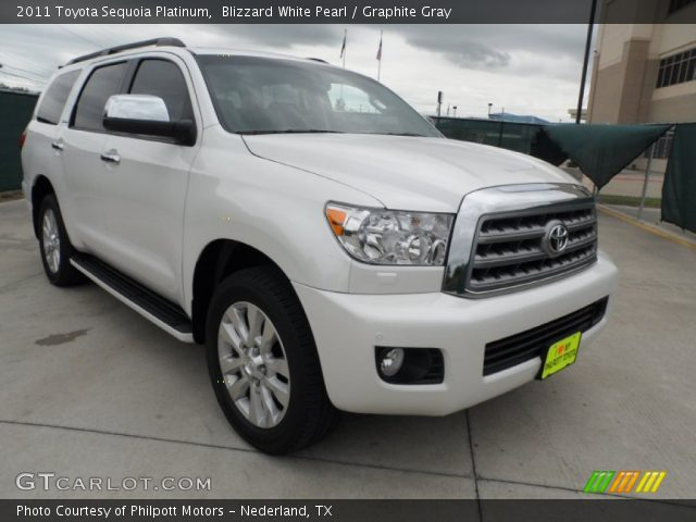 blizzard white pearl 2011 toyota sequoia platinum. Black Bedroom Furniture Sets. Home Design Ideas