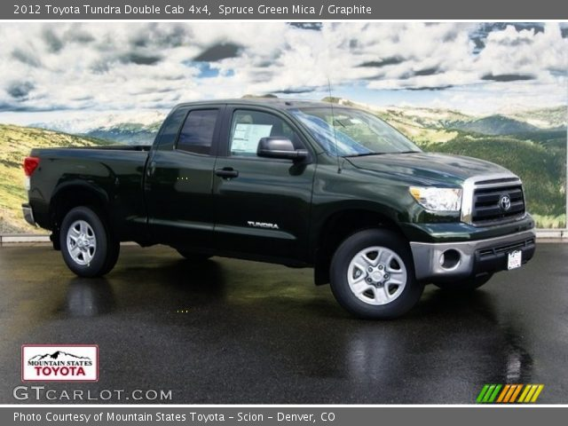 spruce green mica 2012 toyota tundra double cab 4x4 graphite interior. Black Bedroom Furniture Sets. Home Design Ideas