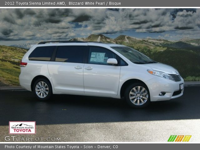 2012 Toyota Sienna Limited AWD in Blizzard White Pearl