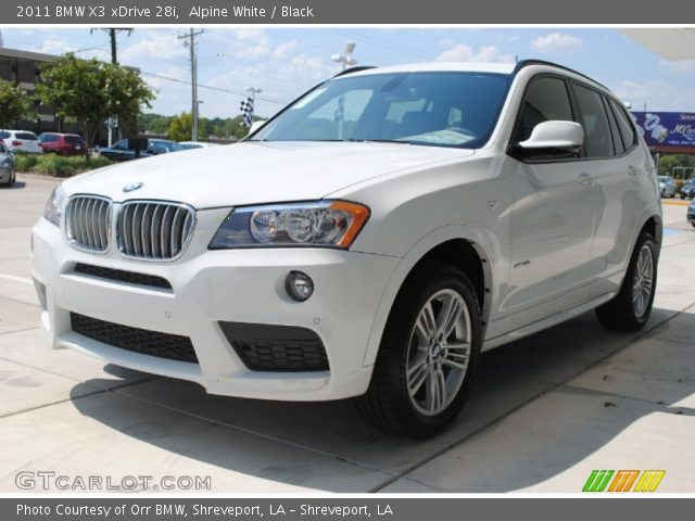 alpine white 2011 bmw x3 xdrive 28i black interior. Black Bedroom Furniture Sets. Home Design Ideas