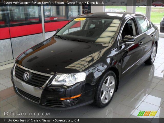 Deep Black 2009 Volkswagen Passat Komfort Sedan Deep Black Interior Vehicle
