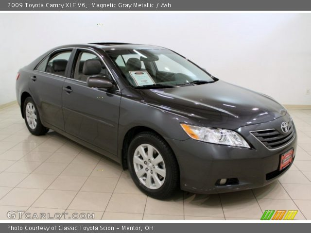 magnetic gray metallic 2009 toyota camry xle v6 ash interior vehicle. Black Bedroom Furniture Sets. Home Design Ideas